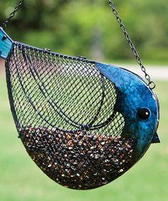 Look at this #zulilyfind! Blue Bird Feeder #zulilyfinds