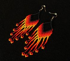 Native American Patterns, Native American Beading, Beaded Earrings, Crochet Earrings, Collar Tribal, Boho, Beadwork, Ale, Victoria