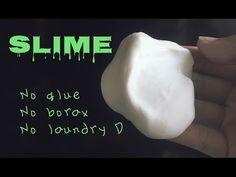 How to make slime w/o glue, borax, & laundry detergent - YouTube