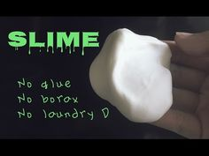 How to make slime w/o glue, borax, & laundry detergent - YouTube