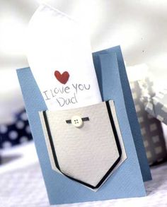 Fun #DIY for a Father's Day card.