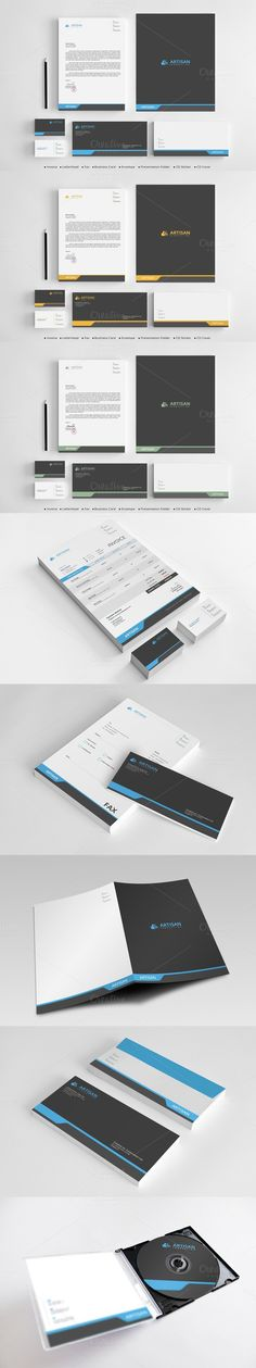 Creative Invoices + Cover Letter Stationery, Template and Creative - corporate word templates