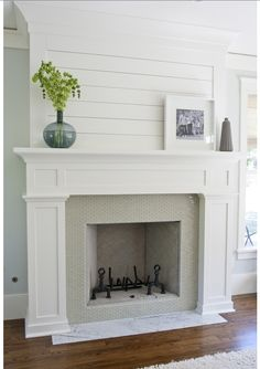 Fantastic fireplace makeover.