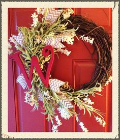 Initial wreath.... Designs by Karrie