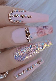 Purple Nails, Bling Nails, Swag Nails, Summer Acrylic Nails, Best Acrylic Nails, Classy Nails, Stylish Nails, Gorgeous Nails, Pretty Nails