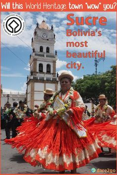 Sucre, Bolivia's most beautiful city with its white painted colonial buildings, left us a little underwhelmed. Travel Guides, Travel Tips, Bolivia Travel, World Cities, South America Travel, Like A Local, Most Beautiful Cities, Ultimate Travel, Balconies