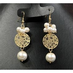 10 Handmade Earrings Ideas with Great Tutorials Pearl Jewelry, Indian Jewelry, Diy Jewelry, Antique Jewelry, Beaded Jewelry, Jewelery, Jewelry Accessories, Jewelry Design, Fashion Jewelry