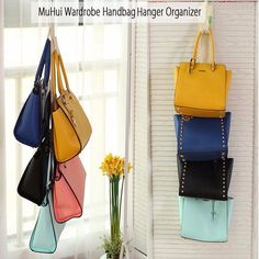MUHUI Creative Hanging Storage Bag Non-woven Handbag Waterproof Door Wall Mounted Home Sundries Jewelry Closet Organizer Bags
