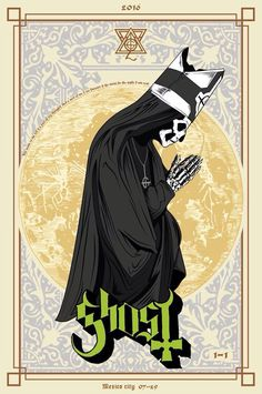 Band Ghost, Ghost Bc, Papa Emeritus 4, Concert Posters, Music Posters, Art Posters, System Of A Down, Metal Band Logos, Rock Y Metal