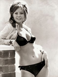 Vicki-Michelle-actress-in-black-bikini. Photography Movies, Photography Women, Classic Actresses, British Actresses, Vicki Michelle, Carol Vorderman, Charlotte Rampling, Cinema, Sexy Poses