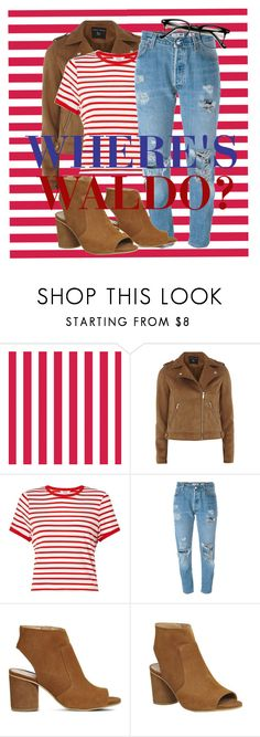 """Where's Waldo?"" by delilahguardie ❤ liked on Polyvore featuring Dorothy Perkins, Miss Selfridge, Levi's and Office"
