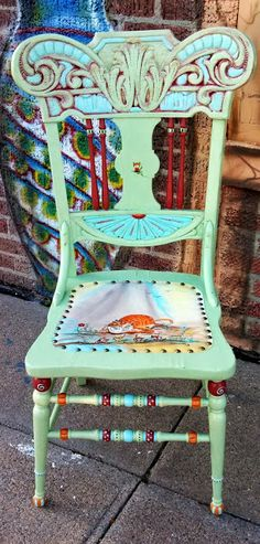 Carolyn's Funky Furniture: Playful Kitten Chair