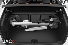 JAC< inside car trunk