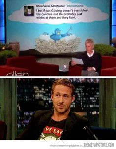 What people think of Ryan Gosling...  Sounds about right.