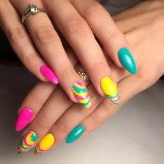 Nail Art Designs and Colors for Summer Claire's Nails, Diva Nails, Cute Nails, Pretty Nails, Pink Nail Designs, Pretty Nail Designs, Nail Polish Designs, Acrylic Nail Designs, Lynn Nails