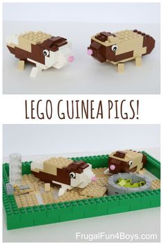 LEGO Guinea Pigs Building Instructions - With a cage and a water bottle too!