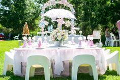 Tiny Tots Toy Hire *'s Birthday / Ballet Theme - Photo Gallery at Catch My Party Bridal Shower Table Decorations, Bridal Shower Tables, Spring Decorations, Birthday Party Themes, Girl Birthday, Birthday Tutu, Birthday Ideas, Tutu Party, Tea Party Baby Shower