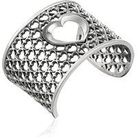 King Baby 925 Sterling Silver Allover Heart Wide Cuff Bracelet$1070More details