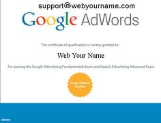 Internet Marketing Engineer Advertising Architect Contact Information Google Professional Certification Individual