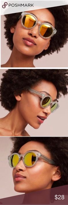 ANTHROPOLOGIE ETT:TWA GOLDIE SUNGLASSES Beautiful and stylish! NWT! Mirrored lenses, Color: golden green. No trades, offers welcome. 01722210490 Anthropologie Accessories Sunglasses