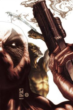 Wolverine & Deadpool by Simone Bianchi