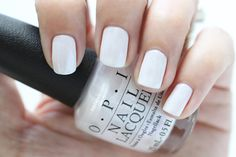OPI Soft Shades Chiffon My Mind White Shimmer Nail Polish Swatch