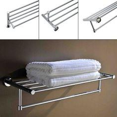 KINSE® Cromo toalla de barra toallero doble de toalla de mano toalla de baño…