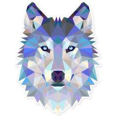 Wolf Modern Art Design Vinyl Sticker - Car Phone Helmet - SELECT SIZE
