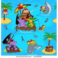 animal pirate illustration - Google-søk