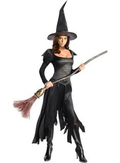 Wicked Witch of the West Costume (or create a similar costume with clothes you already have! I like the idea of the shredded palazzo pants!) #Halloween #Costume #Witch
