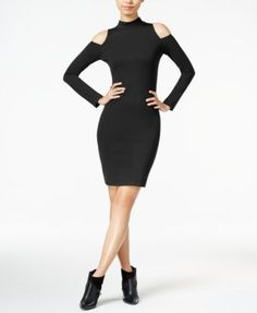 Bar III Cold-Shoulder Bodycon Dress, Only at Macy's | macys.com