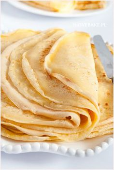 Crepes, Polish Recipes, Polish Food, Food Cakes, Cake Recipes, Pancakes, Good Food, Gluten Free, Pierogi