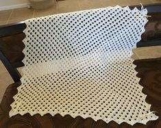 Items similar to White crochet christening baptism baby blanket with fancy edge on Etsy Baby Blanket Crochet, Crochet Baby, Newborn Gifts, Baby Gifts, Can Tab Crafts, Baby Girl Blankets, Fancy, Afghan Crochet Patterns, Pillow Forms