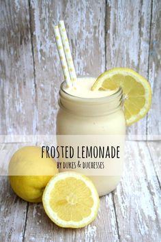 refreshing three-ingredient frosted lemonade