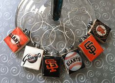 SF Giants wine charms, for all you Giants fans