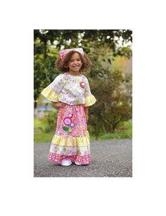 Pink Girls Maxi Outfit Little Girls DressesGirls by PinkMouseKids