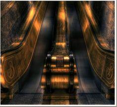 Escalators Broadmoor style  http://www.broadmoor.com/