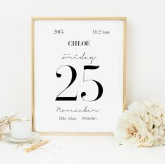 Personalized Birth Stats for babies-Custom Baby by VisualPixie