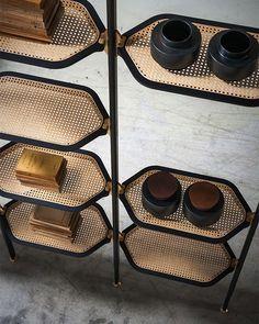 Pietro Russo for Baxter Italia: Libelle bookcase Cane Furniture, Rattan Furniture, Cheap Furniture, Furniture Design, Baxter Furniture, Natural Furniture, Discount Furniture, Rustic Furniture, Furniture Decor
