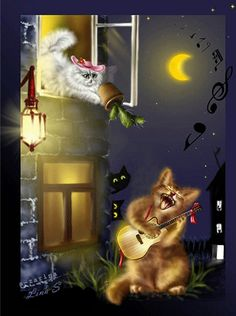 belles images anim s - Page 7 I Love Cats, Cool Cats, Animation, Les Gifs, Cat Gif, Oeuvre D'art, Good Night, Animated Gif, Cats And Kittens