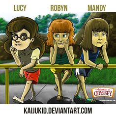 The famous Odyssey girls by Sam!   Adventures in Odyssey fan art   Lucy Cunningham-Schultz   Robyn Jacobs   Mandy Straussberg