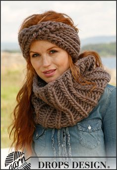 Basic patterns - Free knitting patterns and crochet patterns by DROPS Design Knit Or Crochet, Crochet Scarves, Crochet Crafts, Crochet Projects, Free Crochet, Crochet Shawl, Loom Knitting, Free Knitting, Knitted Headband