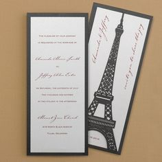 Joie de L 'amour Invitation - Wedding Invitations - Wedding Invites - Wedding Invitation Ideas - View a Proof Online - #weddings #wedding #invitations