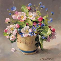Egg Cup with Apple Blossom | Mill House Fine Art – Publishers of Anne Cotterill Flower Art