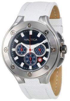 Relógio Nautica Men's N25510G NCS-100 White Polyurethane Strap Chronograph Watch #Relógio #Nautica