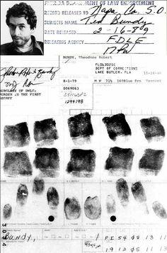 Ted Bundy  huellas dactilares