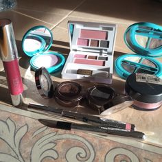 Urban Decay, Clinique Make-up Plus More ❌(9)) Products included: -2) Urban Decay Eyeshadows Cobra & Twice Baked, 1) Clinique Chubby Stick Super Strawberry, -1 Clinique Color Surge Eye Shadow Trio, .04 oz. plus -Soft-Pressed Powder Blush-New Clover-.06 oz.. 1) Lip Liner color is Pink by Dr. Kaplan. 1) Marc Jacobs Black eye liner. size 0.01 oz., 1) CarMindy Bright Eyes Concealer-light, 1 CarMindy Epic EyeShadow Quad) 1) Bare Minerals Blush Color Lovely) ❌All products are authentic and have…