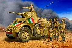 italian infantry ( box art for Master Box ) German Soldiers Ww2, German Army, Military Men, Military History, Army Men, Afrika Corps, North African Campaign, Military Drawings, Empire Romain