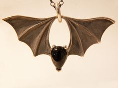 cute little ears!  Large Bridge Bat Pendant