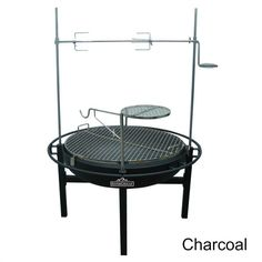 """Rotisserie Charcoal Grill Rancher Firepit Grill Cowboy Steel BBQ Pit 31"""" Outdoor…"""
